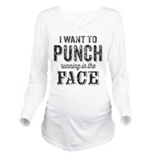 I Want To Punch Running In The Face Long Sleeve Ma