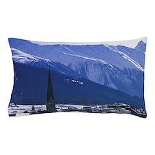 Switzerland, Graubunden, Davos. Daytim Pillow Case