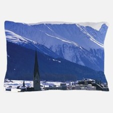 Switzerland, Graubunden, Davos. Daytim Pillow Case