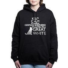 Unique Black white cat Women's Hooded Sweatshirt