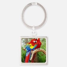 Parrot Square Keychain
