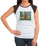 Bridge & Ruby Cavalier Women's Cap Sleeve T-Shirt
