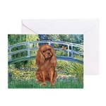 Bridge & Ruby Cavalier Greeting Cards (Pk of 10)