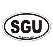 St. George Utah SGU Euro Oval Decal