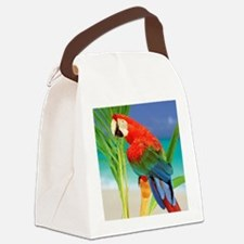 Parrot Canvas Lunch Bag