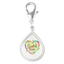 Gerbil Lover Silver Teardrop Charm