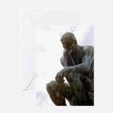The Thinker. By Rodin. 1906. France. Greeting Card