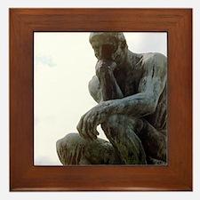 The Thinker. By Rodin. 1906. France. Framed Tile