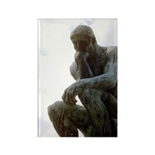 The Thinker. By Rodin. 1906. Fran Rectangle Magnet