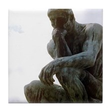 The Thinker. By Rodin. 1906. France. Tile Coaster