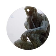 The Thinker. By Rodin. 1906. France Round Ornament