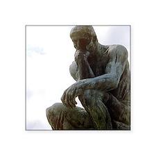 "The Thinker. By Rodin. 1906 Square Sticker 3"" x 3"""