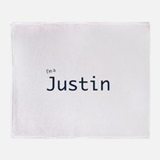 I'm a Justin Throw Blanket