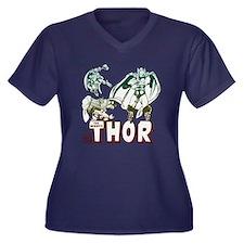 Marvel Comic Women's Plus Size V-Neck Dark T-Shirt