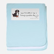 bernese mountain dog baby blanket