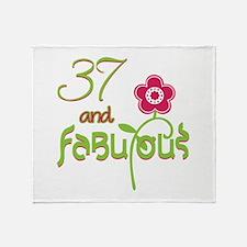 37 and Fabulous Throw Blanket
