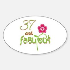 37 and Fabulous Decal