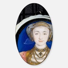Anne of Cleves by Holbein, 1515-155 Sticker (Oval)