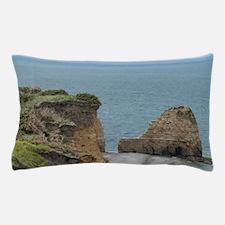 Pointe du Hoc. Strategic point for Ger Pillow Case