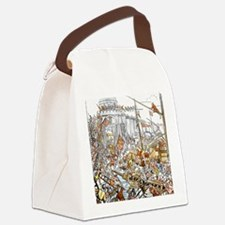 Medieval engraving. Second taking Canvas Lunch Bag