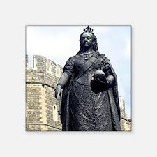 """Queen Victoria. Statue at W Square Sticker 3"""" x 3"""""""