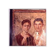 "Fresco from Pompeii. Portra Square Sticker 3"" x 3"""