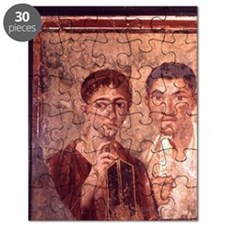 Fresco from Pompeii. Portrait of a man and  Puzzle