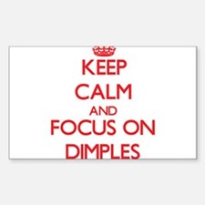 Keep Calm and focus on Dimples Decal