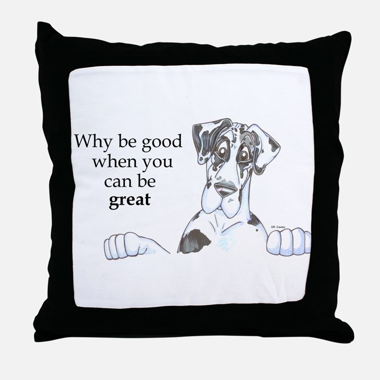 NH Why be good Throw Pillow