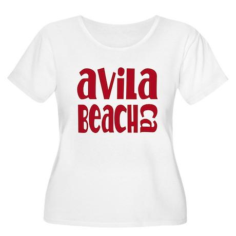 Avila Beach California Women's Plus Size Scoop Nec