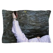 Kissing the Blarney Stone. Pillow Case