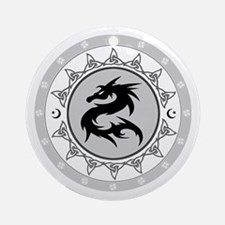Dragon Knot 4 Ornament (Round)