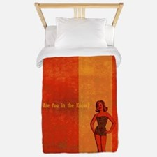 In The Know Retro Pop-Art Woman Twin Duvet