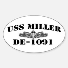 USS MILLER Sticker (Oval)