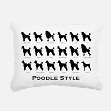 Poodle Pattern black (large) Rectangular Canvas Pi
