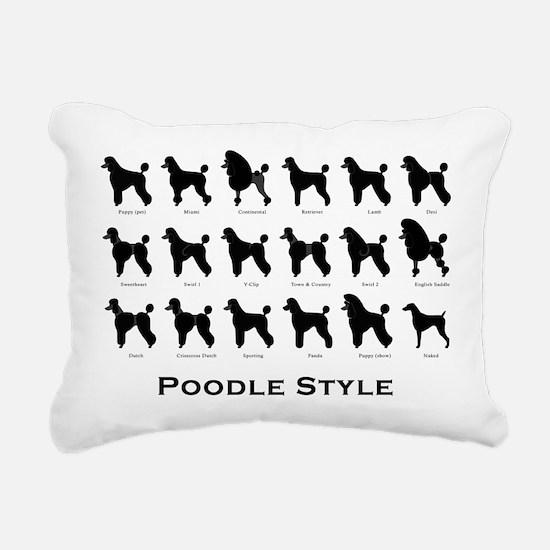 Poodle Pattern black (large) Rectangular Canvas Pi