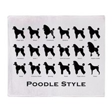 Poodle Pattern Black (large) Throw Blanket