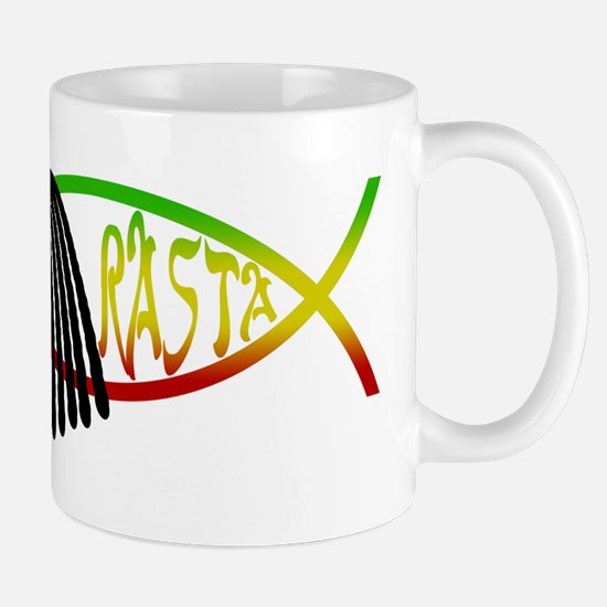 Smokin' Rasta Fish Mug