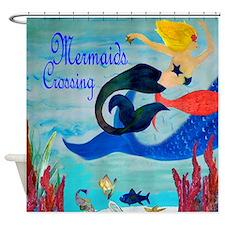 Mermaids Crossing Shower Curtain
