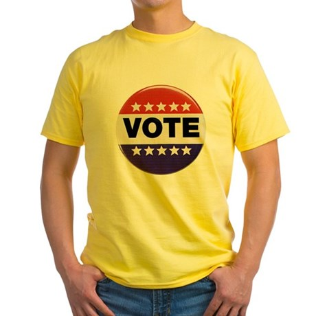 Get Out The Vote Button Yellow T-Shirt
