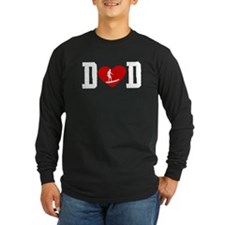 Surfer Dad Heart Long Sleeve T-Shirt