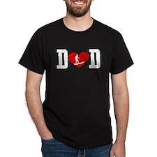 Surfer Dad Heart T-Shirt