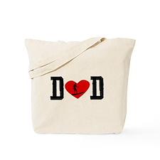 Surfer Dad Heart Tote Bag
