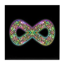 Infinity Psychedelic Symbol Tile Coaster