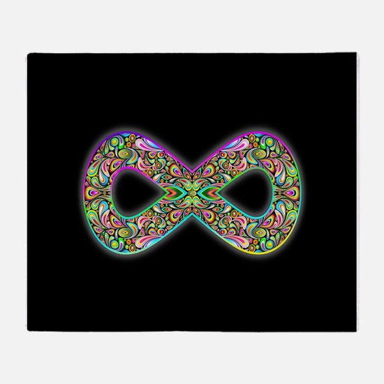 Infinity Psychedelic Symbol Throw Blanket
