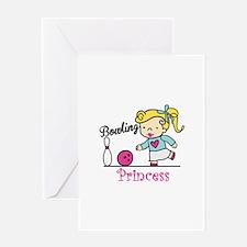 Bowling Princess Greeting Cards