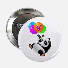 "Panda Bear 4th Birthday 2.25"" Button"