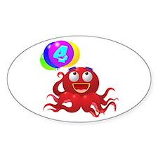 Octopus 4th Birthday Decal