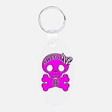Sweet 16 Skull Keychains