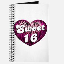 Sweet 16 Zebra Heart Journal